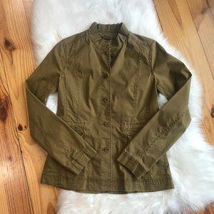 Eileen Fisher Green Blazer Jacket Military PP